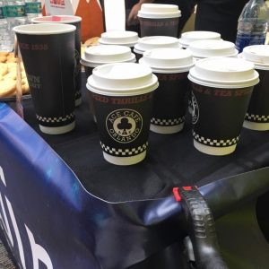 Ace Cafe of Orlando donated coffee to volunteers of Love Must Win Inc as an act of kindness_2017