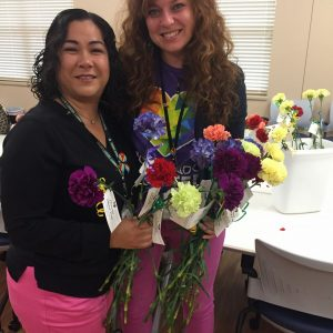 Employees at the Harbor House of Central Florida handed out rainbow flowers as an act of kindness_2017