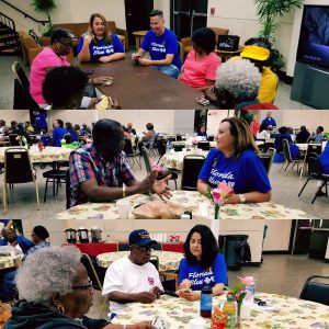 FL BLue volunteers to spend time with seniors