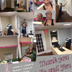 Julie and Jen donate their Sundays to help with renovations for Libby_s Legacy Breast Cancer Foundation as an act of kindness_2017
