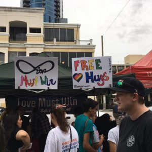 Love Must Win Inc gave away free hugs as an act of kindness_2017
