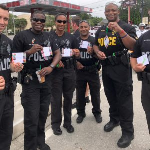 Youth at Zebra Coalition made tokens of appreciation for first responders of the the Orlando Police Department as an act of kindness_2017